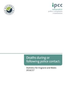 IPCC Deaths during or following police contact 2016-2017
